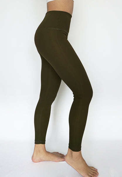Infinity Army Green legging side activewear women