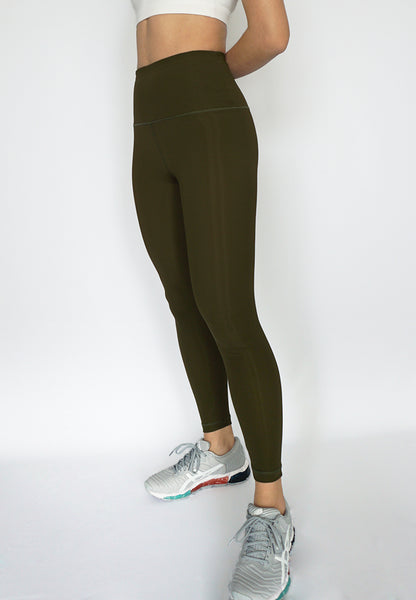 Infinity Army Green legging front for yoga women