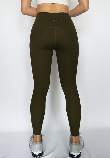 Infinity Army Green legging back women gymwear