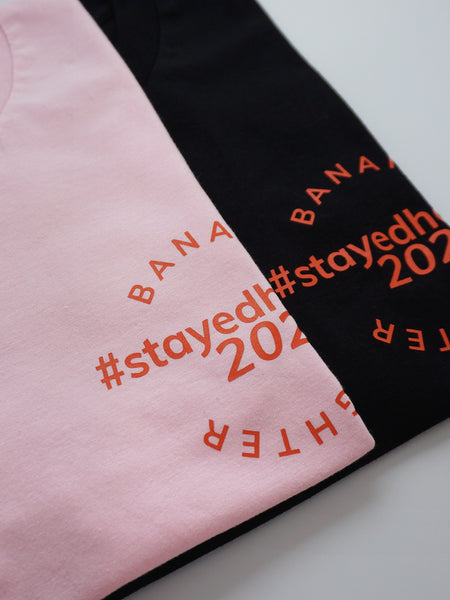 #StayedHome2020 Cropped Tee- BLACK - Banana Fighter