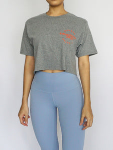 #StayedHome2020 Cropped Tee- GRAPHITE - Banana Fighter