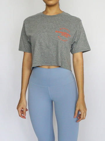 #StayedHome2020 Cropped Tee- GRAPHITE