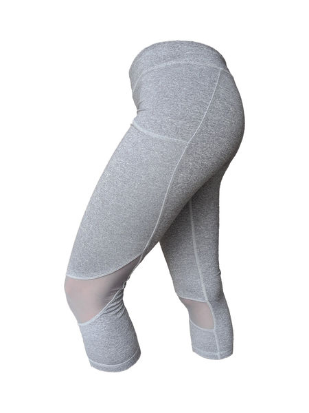 Grey Jane Capri 3/4 legging side