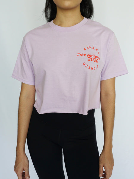 #StayedHome2020 Cropped Tee- LILAC