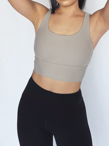 Vertical Crossback Sports Bra- NUDE - Banana Fighter