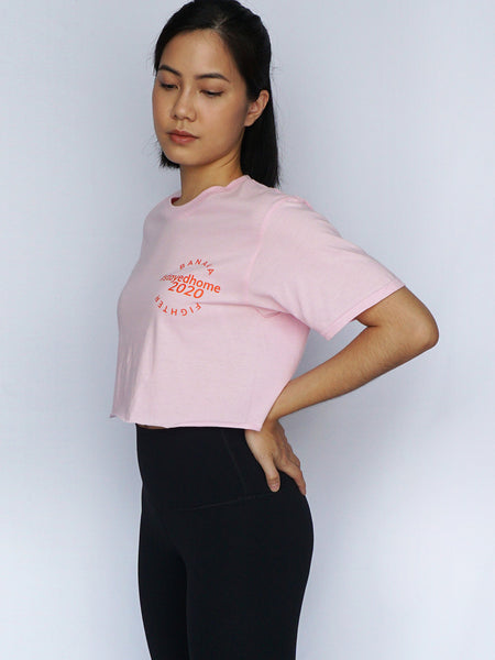 #StayedHome2020 Cropped Tee- PINK