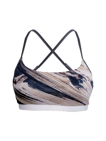Terra crossback sports bra front