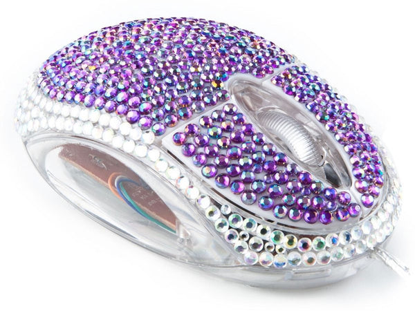 Mouse Decordao con Diamantes (Morado)