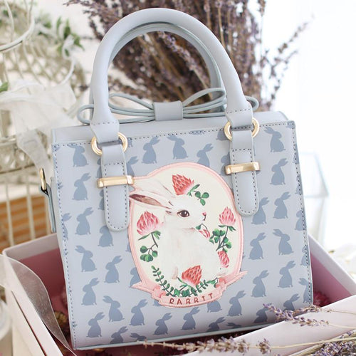 Light Blue Mori Girl Cutie Rabbit Hand Bag/Shoulder Bag SP153977 - SpreePicky  - 1