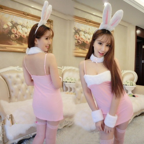 Black/Pink Kawaii Bunny Cosplay Costume SP1710855