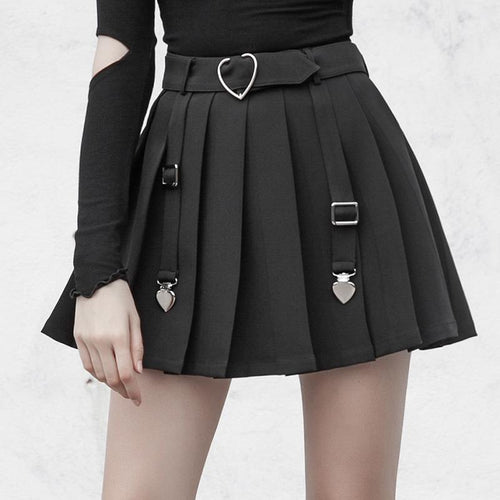 8e75171cd Black Gothic Heart Pleated Skirt SP13737. Black Gothic Heart Pleated Skirt  SP13737. Spreepicky EU