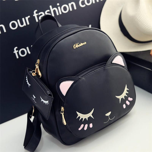 Black/Grey Sleepy Kitty Backpack SP1711098