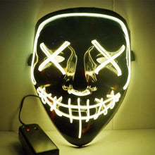 Led Mask Halloween Party Masquerade Mask
