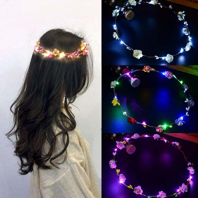 Glowing Garland Crown Flower LED Headband