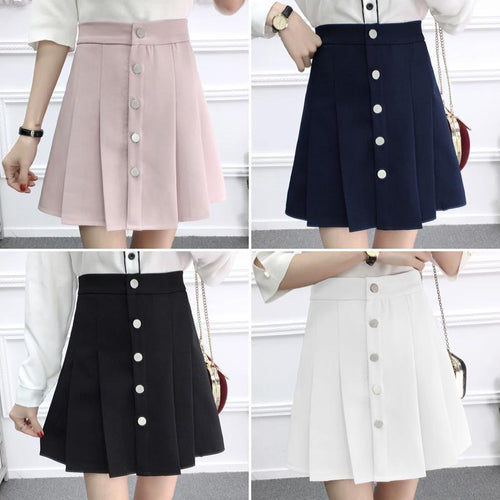 df37f6cfd 4 Colors Sweet High Waist Pleated Skirt SP1812345