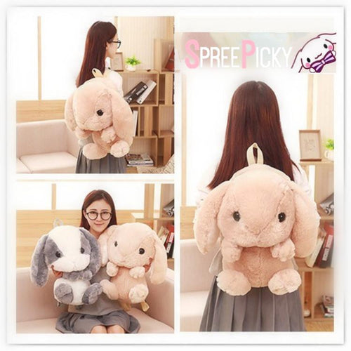 5 Colors Cute Bunny Plush Backpack SP1811959