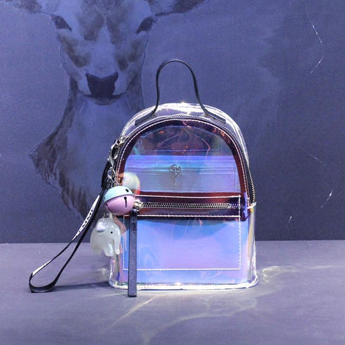 Black/Red Kawaii Holo Transparent Backpack SP1812491