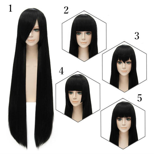 Cosplay Black Long Straight Wig 5 Styles SP152550 - SpreePicky  - 1