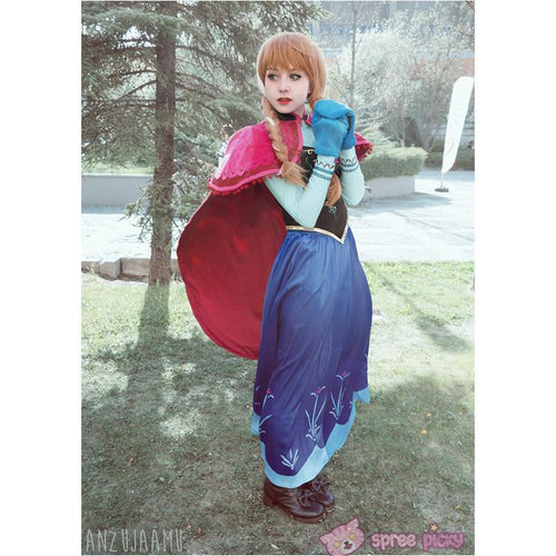 Winter Version [Frozen]Princess Anna Fabulous Gown Cosplay Costume SP140778 - SpreePicky  - 1