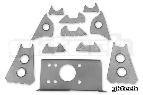 Gktech - S13 / 180sx Version 2 Rear Subframe Weld In Reinforcement Plates