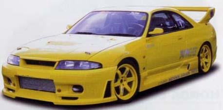 Jun Style , Aftermarket , Fibreglass , Front Bar , Nissan R33 Skyline Gts-T