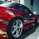 Origin Labo , Aftermarket , Fibreglass , 55mm Wider , Rear Overfenders / Guards , S13 Silvia