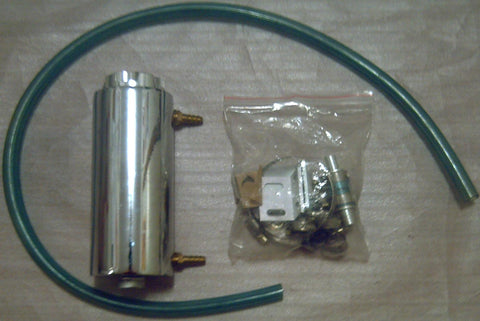 DRI , AFTERMARKET , CHROME , TWIN INLET , OIL CATCH CAN .