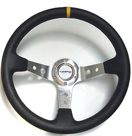 D.R.I , SILVER , 3 SPOKE , DEEP DISH STEERING WHEEL