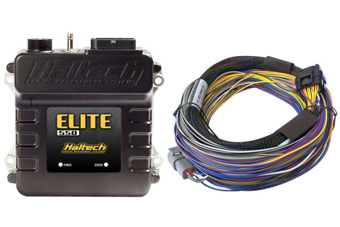Haltech Elite 550 Ecu Computer + Basic Uinversal Wire-In Harness Kit