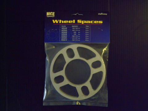 "4 STUD PAIR "" NICE "" MULTI STUD SLIP ON WHEEL SPACERS ( 5MM )"