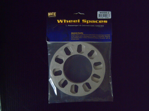 "5 STUD PAIR MULTI STUD "" NICE "" SLIP ON WHEEL SPACERS ( 8MM )"