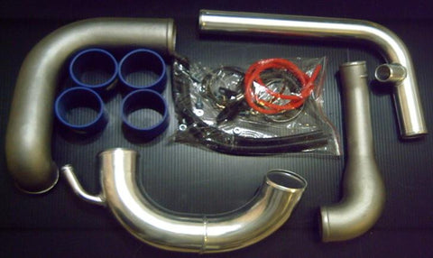 DRI , AFTERMARKET , POLISHED , ALLOY , INTERCOOLER KIT , TO SUIT S13 SILVA / 180SX , SR20DET ENGINES