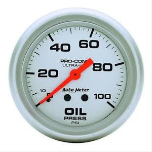 Autometer ProComp UltraLite Series Oil Pressure Gauge .