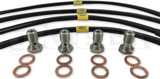Hel Nissan S13 SIlvia 180sx Braided Brake Line Kit