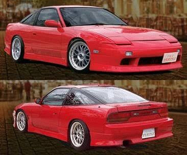 VERTEX STYLE , AFTERMARKET , FIBREGLASS , SIDE SKIRTS , S13 Silvia / 180SX