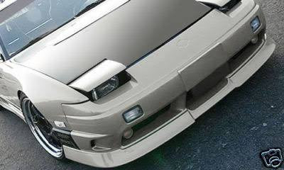 Type-X style , aftermarket , fibreglass , front lip , 180sx