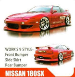 Works 9 style , aftermarket , fibreglass , front bar , 180sx