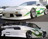 Uras - Type 4 Style , Aftermarket , Fibreglass , Side skirts , 180sx / S13 Silvia