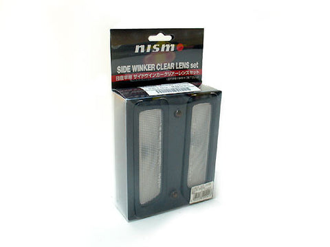GENUINE NISMO , CLEAR FRONT GUARD , SIDE INDICATORS R33 SKYLINE