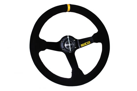 Sparco Sports Style Racing Deep Dish Steering Wheel ( Suede - Black Stitch )