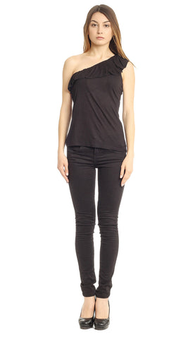 Saiesta Black Zip Up Top