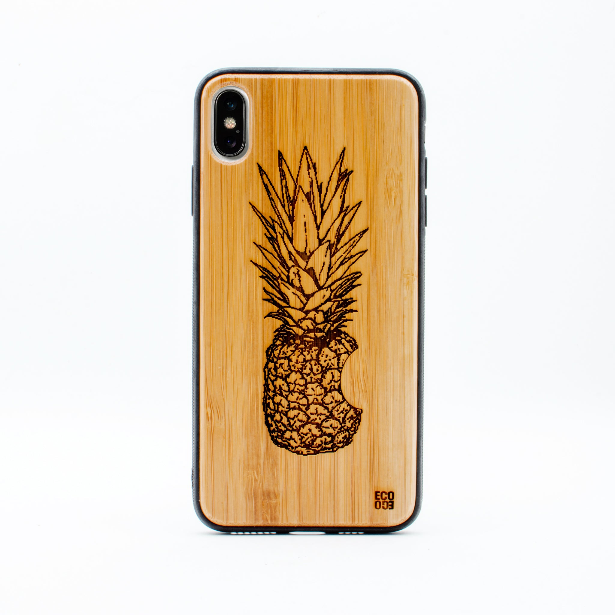 bamboo iphone x max case pineapple ecoego