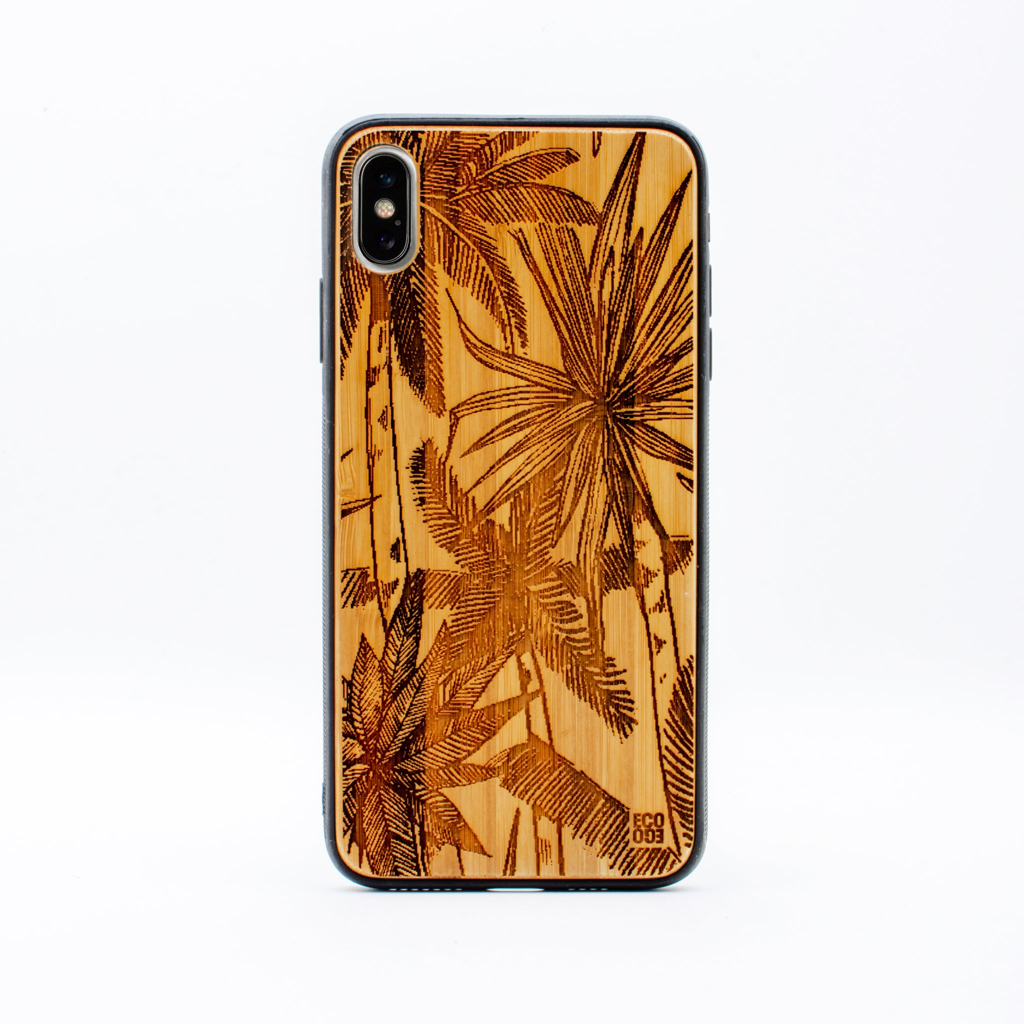 bamboo iphone x max case palm tree ecoego