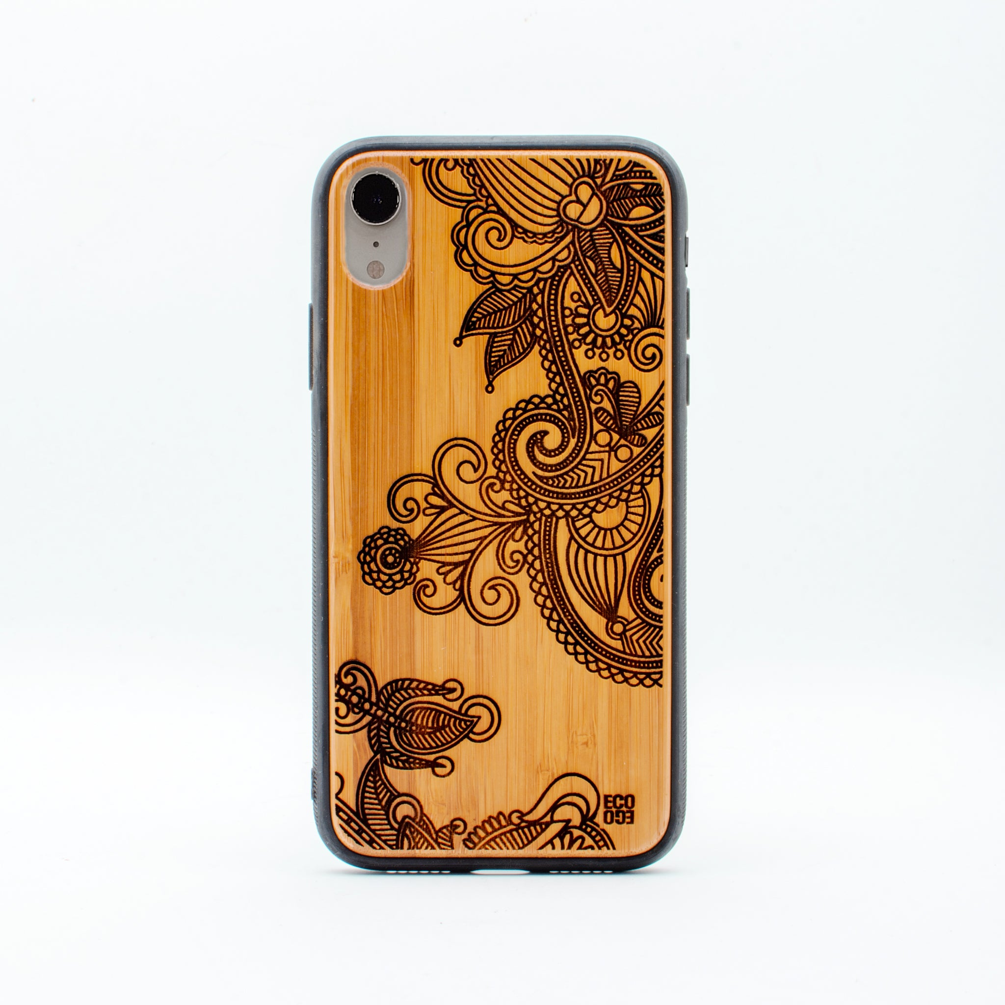 bamboo iphone xr case flower ecoego