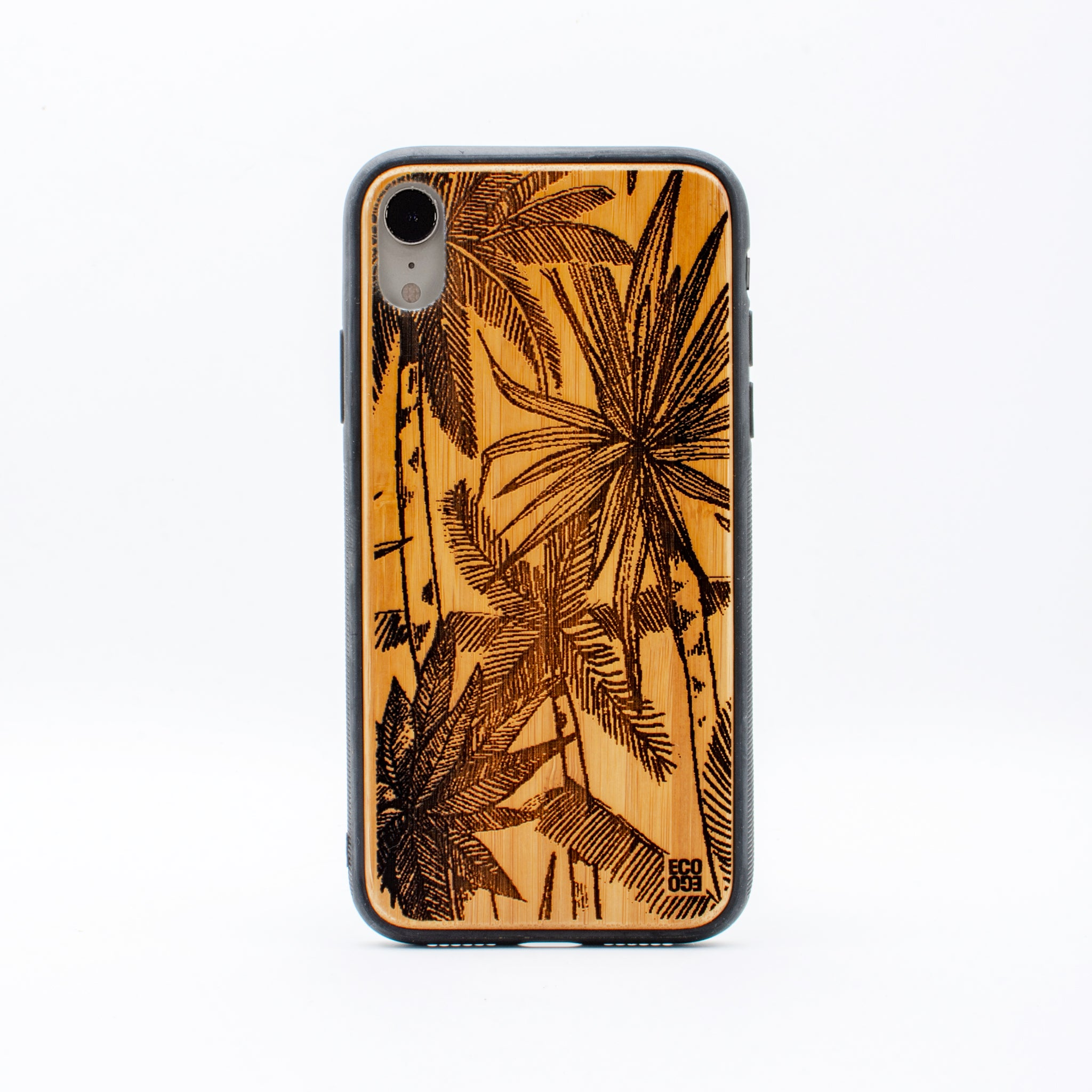 bamboo iphone xr case palm tree ecoego