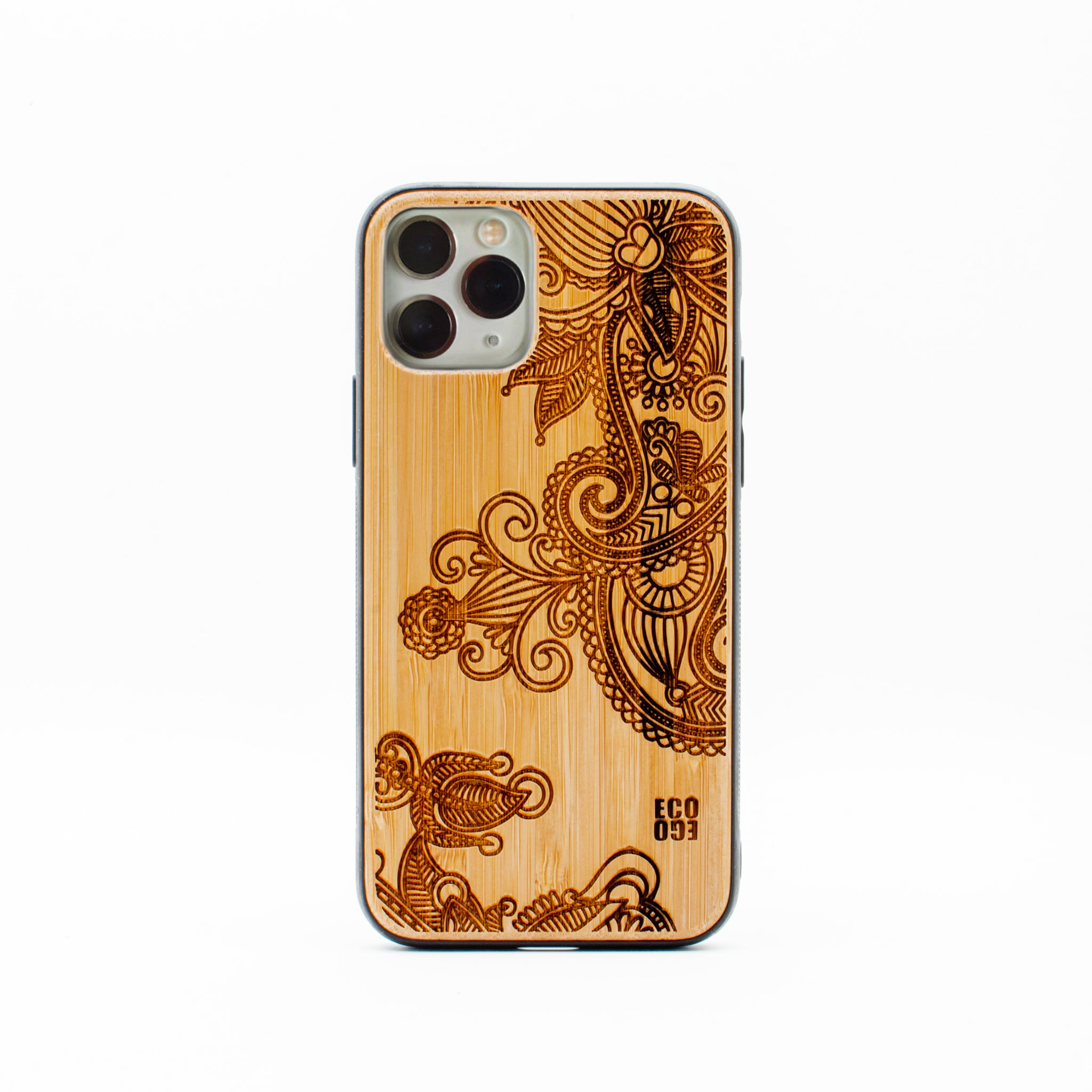 bamboo iphone 11 pro case flower ecoego