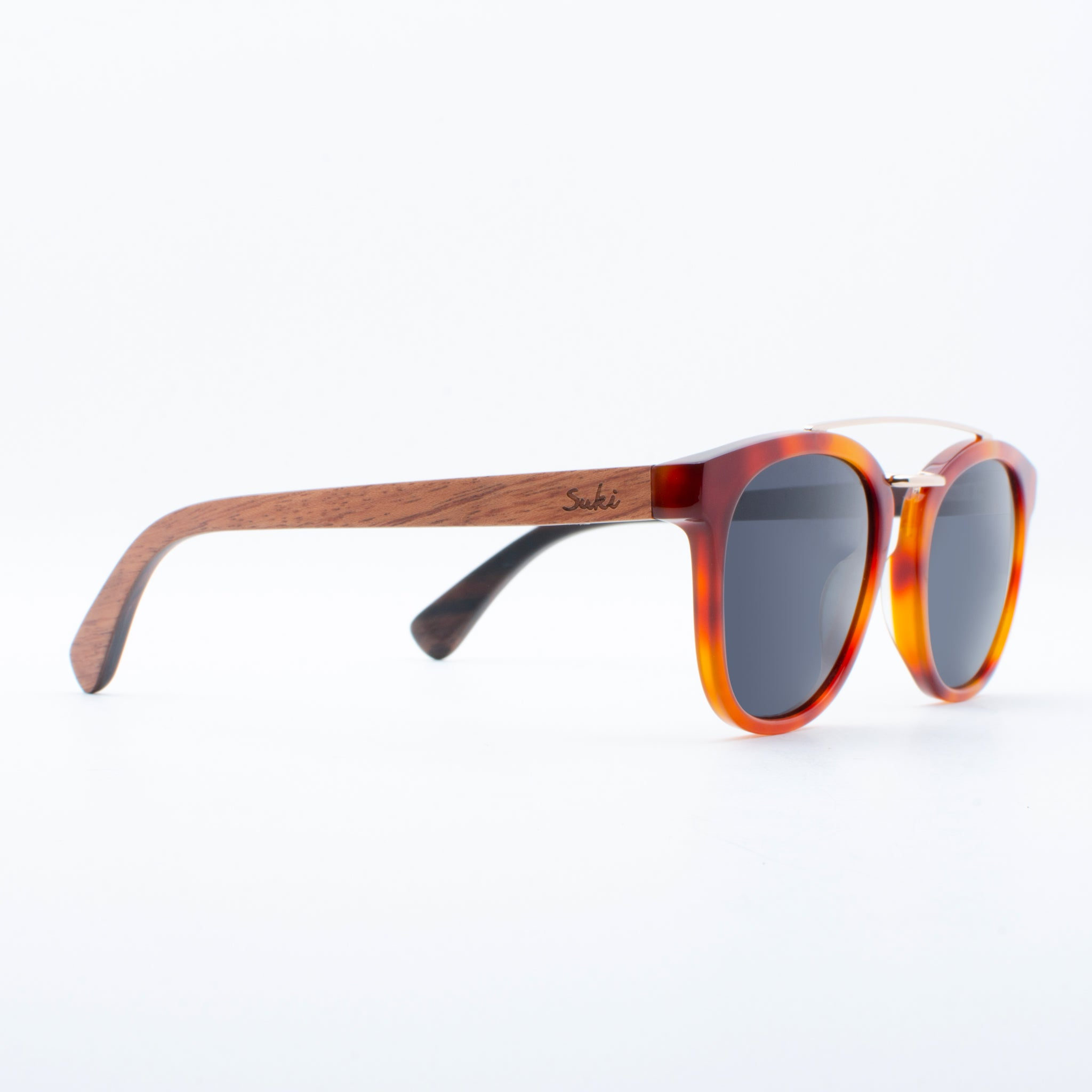 WOODEN SUNGLASSES GAMA RED TORTOISE SUKI