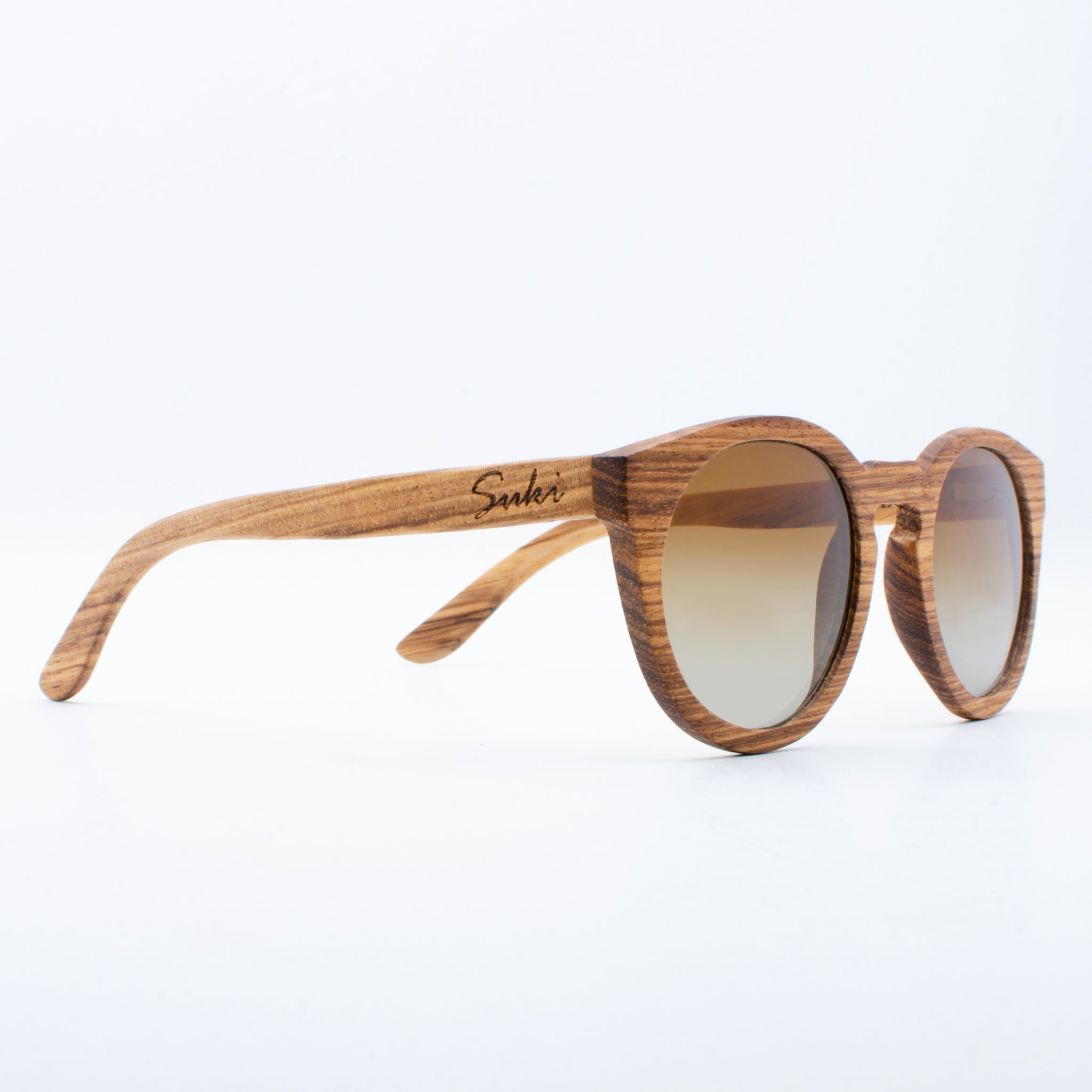 WOODEN SUNGLASSES GILI ZEBRAWOOD SUKI RIGHT