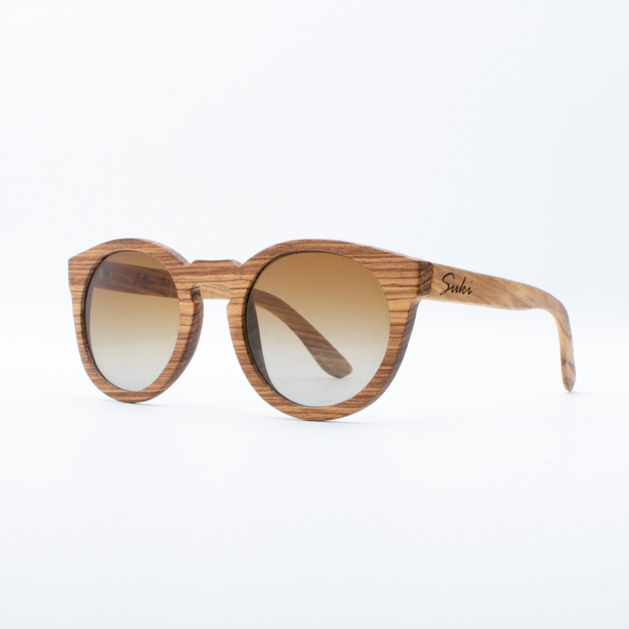 WOODEN SUNGLASSES GILI ZEBRAWOOD SUKI LEFT