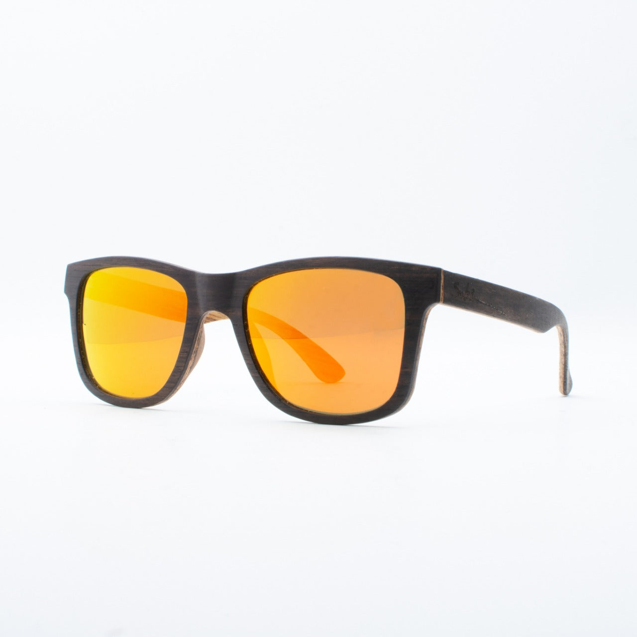 WOODEN SUNGLASSES JOGJA EBONY REVO ORANGE SUKI LEFT